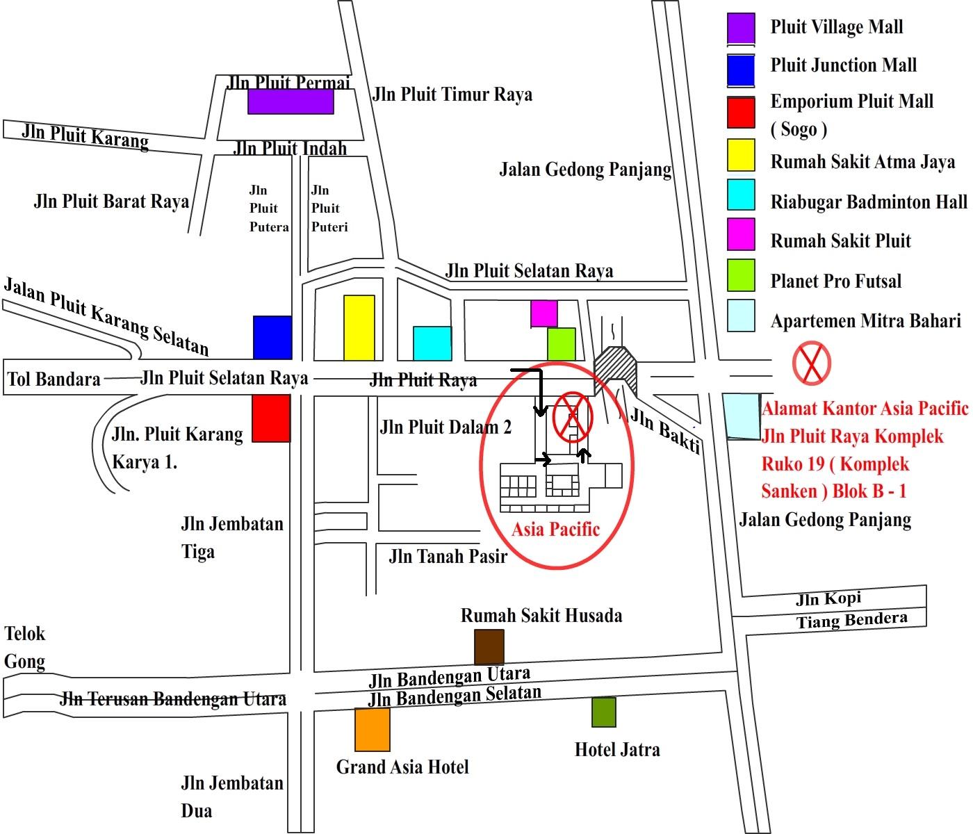 Gambar Peta Alamat Kantor Obat Fengshibao Asia Pacific